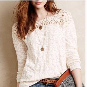 Meadow Rue | Cream Crochet Blouse | Medium